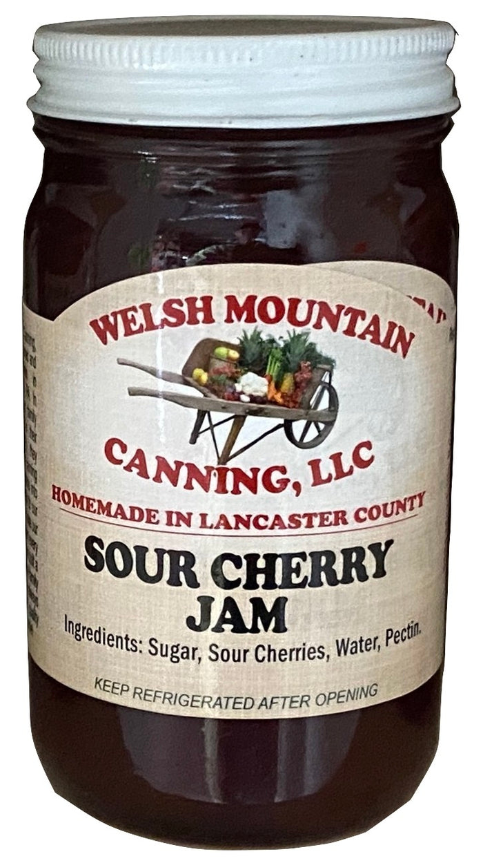 SOUR CHERRY JAM - Amish Homemade Sweet & Tart Fruit Spread