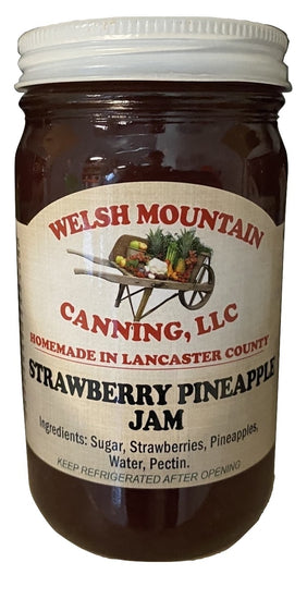 STRAWBERRY PINEAPPLE JAM - Amish Homemade Fruit Spread