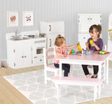 CHILDREN'S KITCHEN HUTCH - Handmade Solid Wood Play Furniture USA