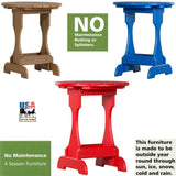 4 SEASON CANDY TABLE - Maintenace Free Poly Side Stand in 19 Colors