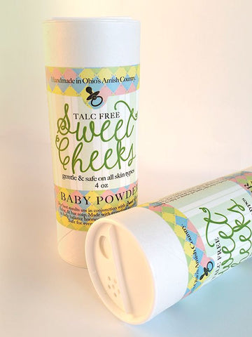 SWEET CHEEKS BABY POWDER ~ Chemical Free Gentle & Safe ~ Handmade in the USA