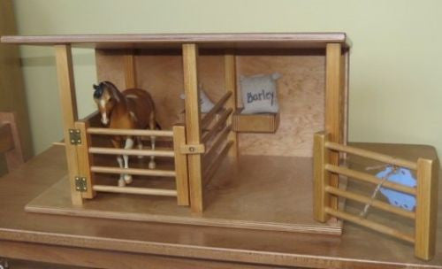 bc06f223e Horse Stable Wood Toy Amish Handmade Wooden Equestrian Barn Stall