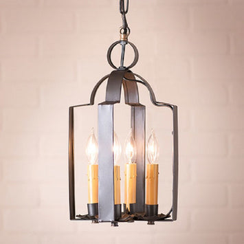 Tinner's Saddle Classic Hanging Light in Smokey Black Finish