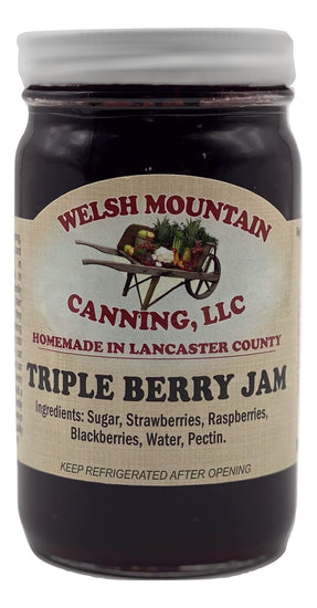 TRIPLE BERRY JAM - Strawberry Blackberry Black Raspberry Blend USA