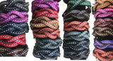 BRAIDED LEATHER BRACELET Amish Handmade Men's Women's Cuff Wrap in 12 COLORS