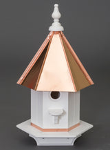 WOODPECKER BIRDHOUSE - Azek Poly Vinyl & Copper Roof Bird House