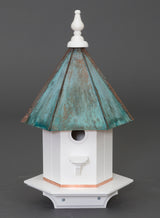 WOODPECKER BIRDHOUSE - Azek Vinyl with Patina Copper Roof Bird House