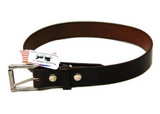 "AMISH LEATHER WORK BELT - Black or Brown 1½"" Wide with Roller Buckle"
