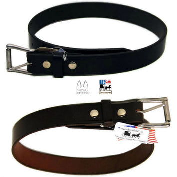 AMISH LEATHER WORK BELT - Black or Brown 1½
