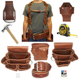 HAMMER HOLSTER - Stitched Leather & Riveted Stainless Steel Holder USA