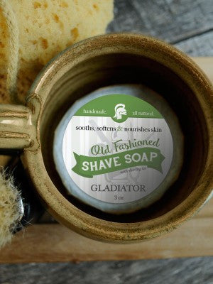 All Natural Shave Soap Bar ~ Handmade Gladiator Shaving Disk