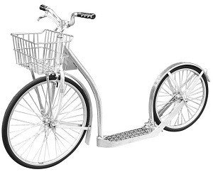 "20"" ALUMINUM SCOOTER Lightweight Silver Amish Foot Bike"