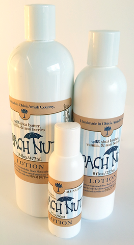BEACH NUT BODY LOTION - Soothe Sun Kissed Skin w/ Blend of Acacia & Vanilla Oils