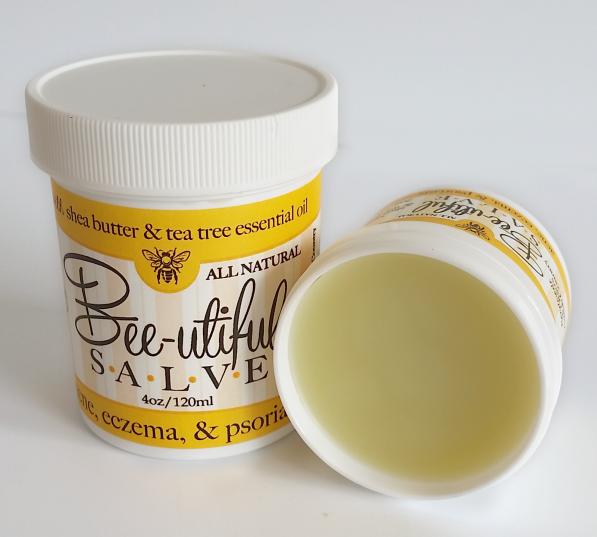 BEE-UTIFUL SALVE ~ All Natural with Tea Tree Essential Oil for Acne Eczema & Psoriasis