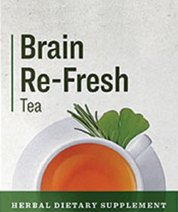 BRAIN RE-FRESH TEA - Organic Herbal Tonic Blend for Mental Clarity & Focus
