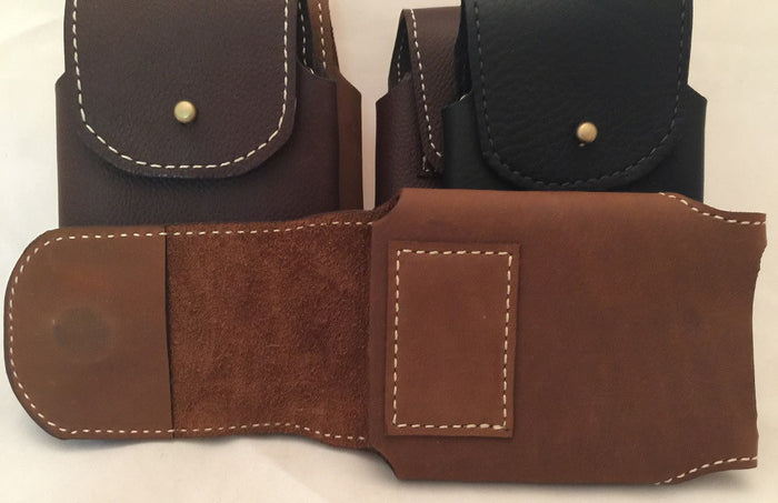 PHONE CASE with WALLET Handmade Leather Holster with Magnetic Closure iPhone6 Belt Clip USA