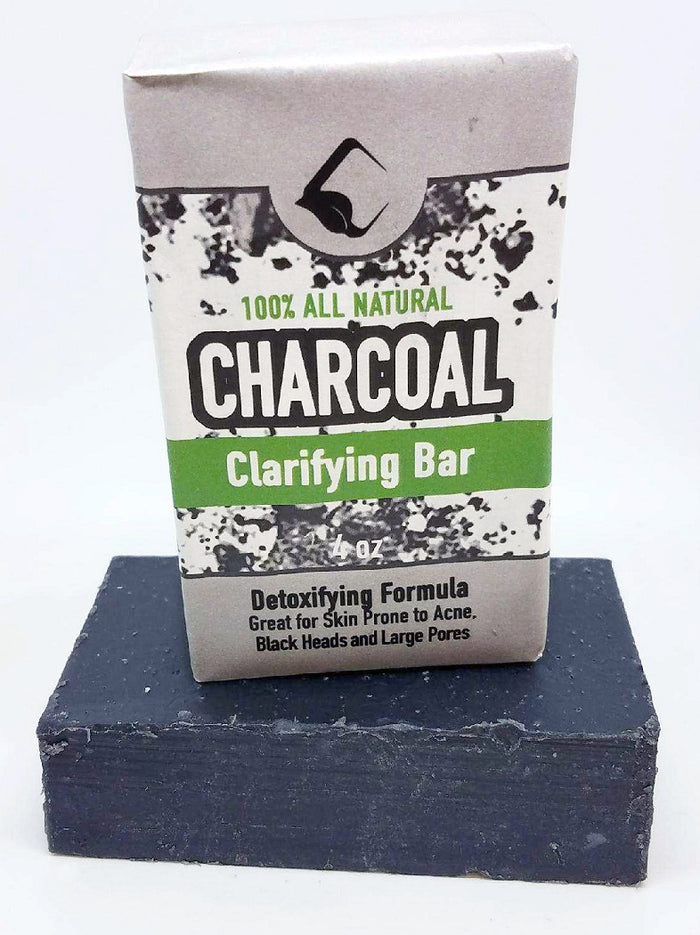 CHARCOAL DETOX SOAP BAR - 100% pure lemongrass, lavender, and tea tree essential oils