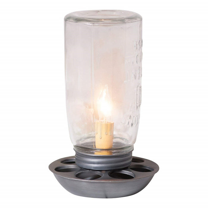 CHICK FEED JAR ACCENT LIGHT - Country Farmhouse Chicken Feeder Candle Lamp
