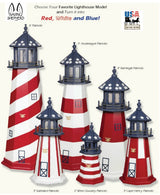 OLD GLORY FLAG LIGHTHOUSE - Red White & Blue Stars & Stripes Working Light