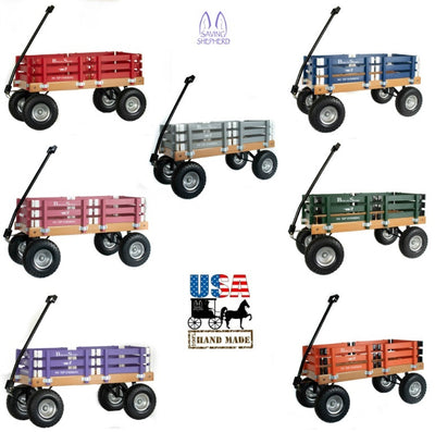 Amish Handcrafted Wagons Beach Garden Carts Scooters SavingShepherd.com