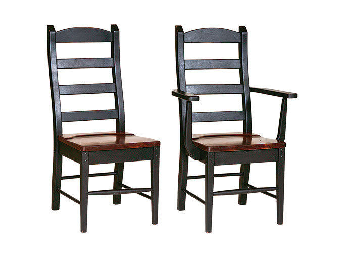 Amish Handmade Ladderback Dining Chairs Heirloom Furniture Made in USA