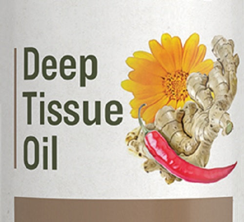 DEEP TISSUE OIL - Natural Warming Herbal Massage for Sore Joints & Muscles