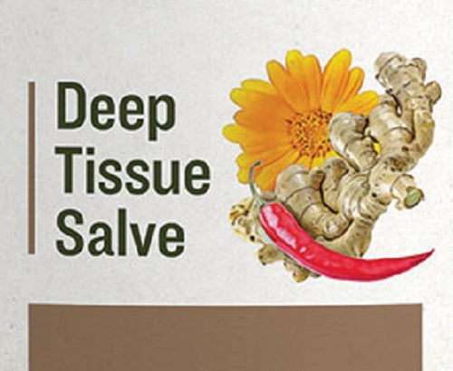 DEEP TISSUE SALVE - Warming Massage with Menthol Crystals & Cayenne
