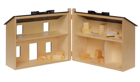 ... LARGE FURNISHED WOOD DOLL HOUSE   Amish Handmade With Wooden Furniture  Included ...