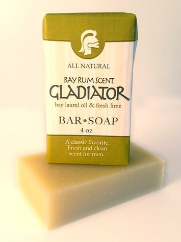 Gladiator Bar Soap Handmade Lime Bay Larel Oil All Natural USA