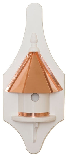 ½ WALL MOUNT BIRDHOUSE - Copper Roof & Trim Vinyl Bird House