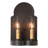 Hanover Double Candle Sconce - Handcrafted in 2 Country Tin Finishes