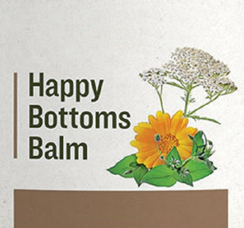 HAPPY BOTTOMS BALM - Gentle 7 Herb Baby Rash Treatment & Skin Care
