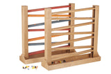 HEIRLOOM MARBLE ROLLER TRACK Harvest Finished Wood with Glass Marbles