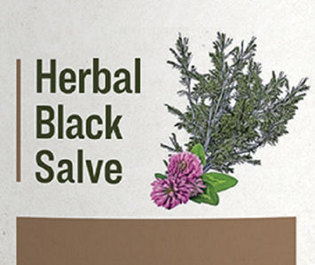 BLACK HERBAL SALVE - All Natural 11 Herb Blend with Pine Tar
