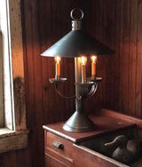 DARBY HOUSE SHADE LAMP - Colonial Style in Antique Tin Finish