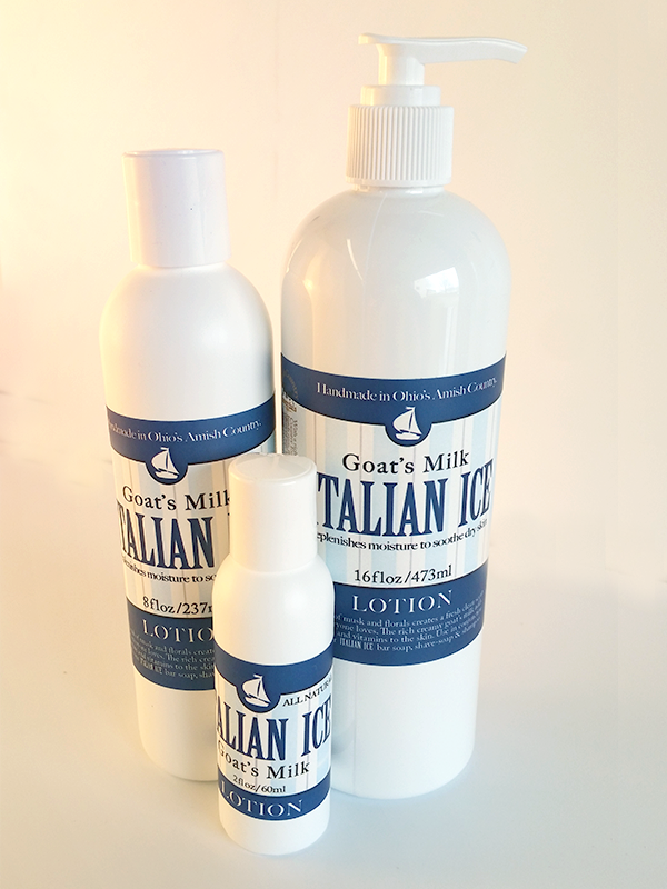 ITALIAN ICE GOATS MILK BODY LOTION - All Natural and Handmade in the USA