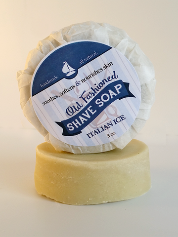 Italian Ice Shave Soap ~ For A Close Smooth Shaving Experience 3oz Bar