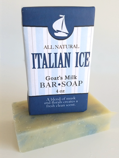 Italian Ice Goat Milk Soap ~ All Natural Handmade  4oz
