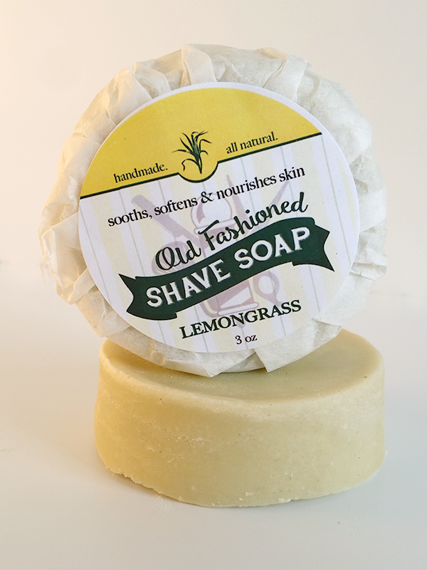 LemonGrass Moisturizing Shave Soap ~ Handmade Antibacterial Antimicrobial Bar
