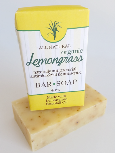 LemonGrass Antibacterial Antimicrobial Soap ~ All Natural Handmade  3.5oz