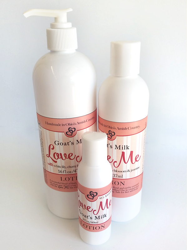 LOVE ME BODY LOTION ~ All Natural Floral Essential Oil Lily Jasmine Geranium