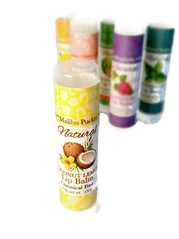 MALIBU PUCKER LIP BALM ~ All Natural with Coconut Extract & Lemon Oil USA