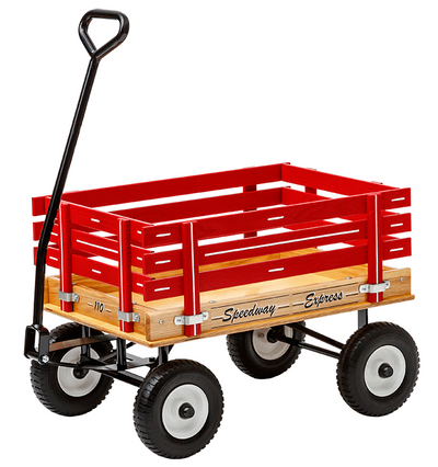 CHILDREN'S WAGON with NO FLAT TIRES - Red Green Pink & Blue USA