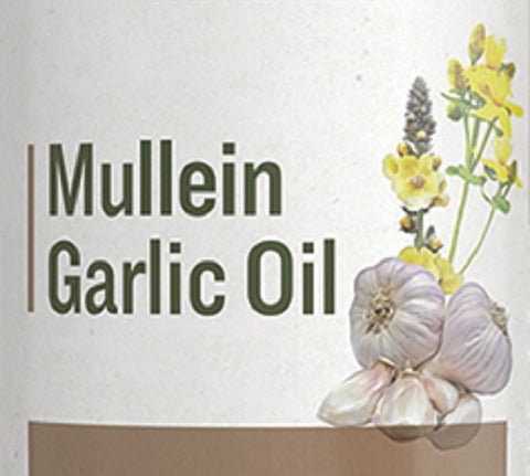 MULLEIN GARLIC OIL - Gentle Herbal Ear Drop Formula for Aches & Infections