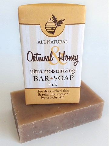 Oatmeal & Honey Soap All Natural Handmade 3.5oz