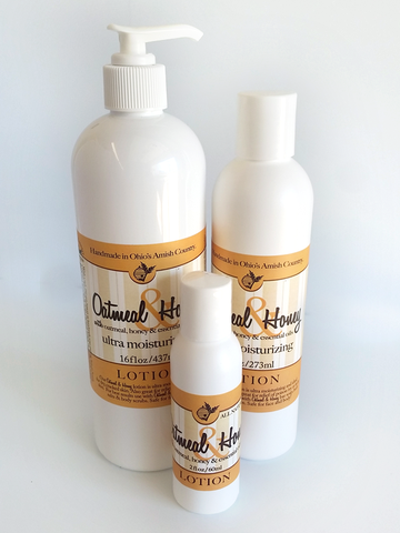 OATMEAL & HONEY BODY LOTION ~ All Natural Blend of Honey & Almond and Fresh Ground Oatmeal