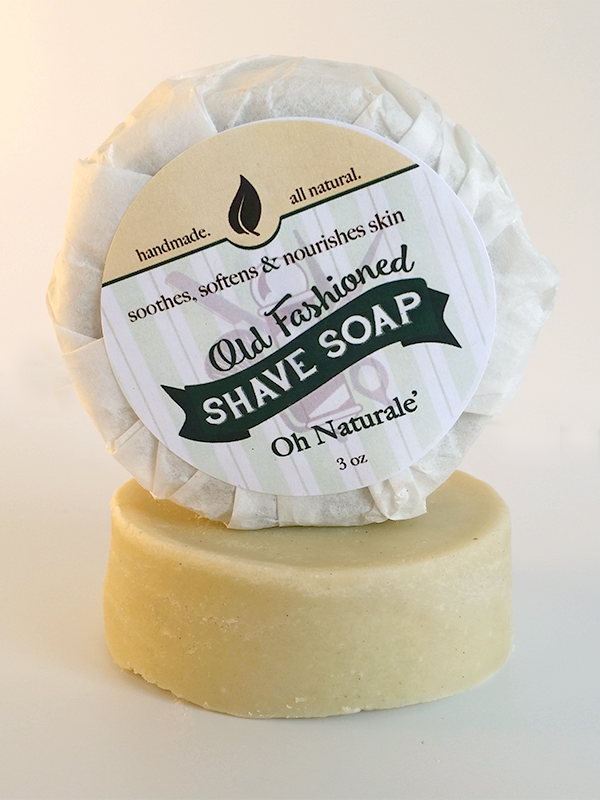 Oh Naturale Shave Soap ~ All Natural Handmade Shaving Disk  3oz Bar