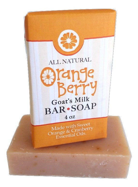 Orangeberry Goat Milk Soap ~ All Natural Handmade  3.5oz