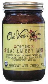 ORGANIC BLACKBERRY JAM - 100% All Natural Whole Fruit Spread USA