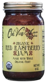 ORGANIC RED RASPBERRY JAM - 100% All Natural Blended Whole Fruit Preserve Spread